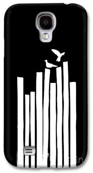Black Digital Art Galaxy S4 Cases - On the Fence Galaxy S4 Case by Budi Satria Kwan
