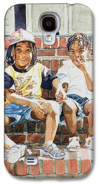 African-american Galaxy S4 Cases - On the Front Step Galaxy S4 Case by Colin Bootman