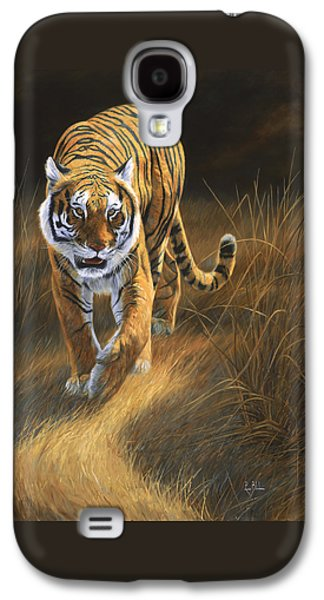 Tiger Galaxy S4 Cases - On The Move Galaxy S4 Case by Lucie Bilodeau