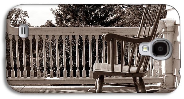 Rocking Chairs Galaxy S4 Cases - On the Porch Galaxy S4 Case by Olivier Le Queinec