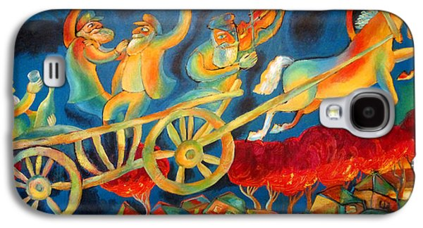 Jerusalem Paintings Galaxy S4 Cases - On the Road to Rebbe Galaxy S4 Case by Leon Zernitsky