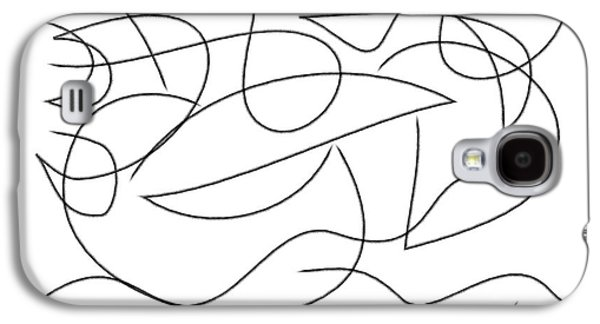 Abstract Digital Drawings Galaxy S4 Cases - On the sea Galaxy S4 Case by Chani Demuijlder