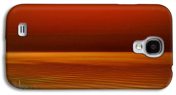 Sunset Abstract Galaxy S4 Cases - On the Shore Galaxy S4 Case by Michelle Calkins