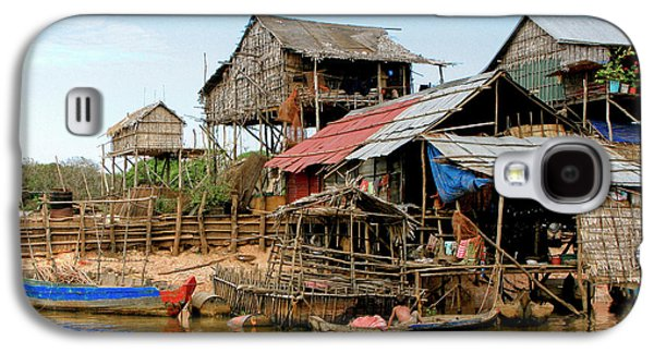 Bamboo House Galaxy S4 Cases - On the Shores of Tonle Sap Galaxy S4 Case by Douglas J Fisher