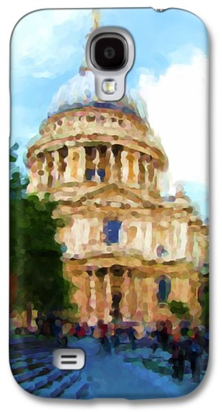 On The Steps Of Saint Pauls Galaxy S4 Case by Jenny Armitage
