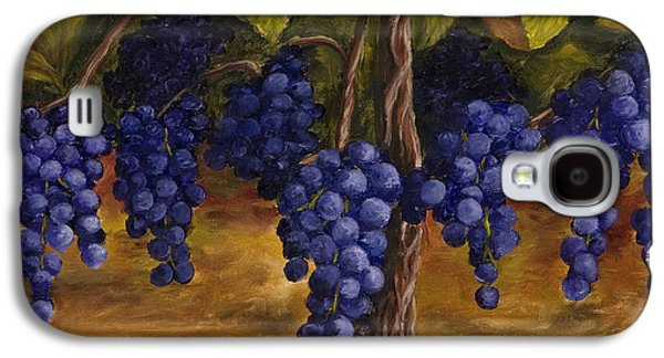 Purple Paintings Galaxy S4 Cases - On The Vine Galaxy S4 Case by Darice Machel McGuire