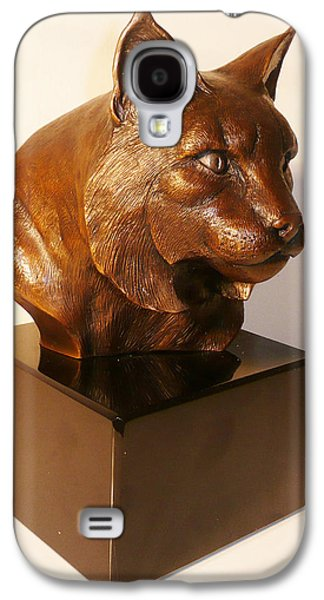 Bobcats Sculptures Galaxy S4 Cases - On the Wild Side Galaxy S4 Case by Shawn McAvoy