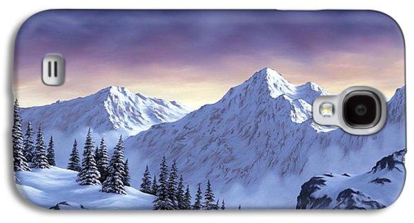 Winter Scene Galaxy S4 Cases - On Top of the World Galaxy S4 Case by Rick Bainbridge