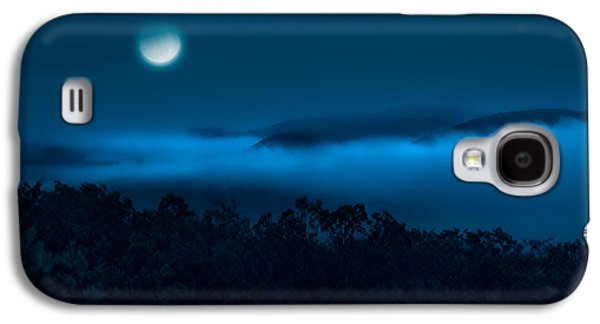 Moonscape Galaxy S4 Cases - Once in a blue moon Galaxy S4 Case by Bill  Wakeley