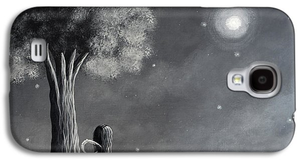 Dreamscape Galaxy S4 Cases - Once Upon A Dreamy Night Original Fairy Art Galaxy S4 Case by Shawna Erback