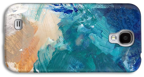 Ocean Mixed Media Galaxy S4 Cases - On A Summer Breeze- contemporary abstract art Galaxy S4 Case by Linda Woods