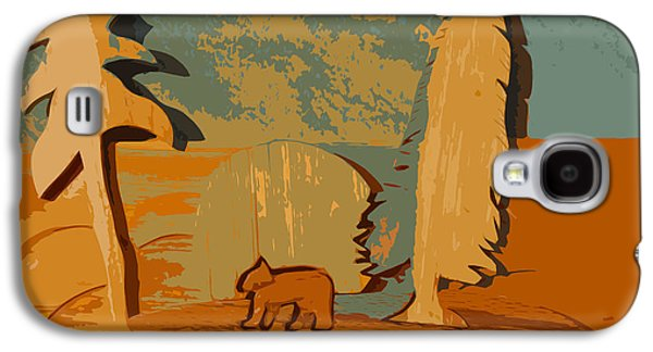 Sun Sculptures Galaxy S4 Cases - One bear walking Galaxy S4 Case by Robert Margetts
