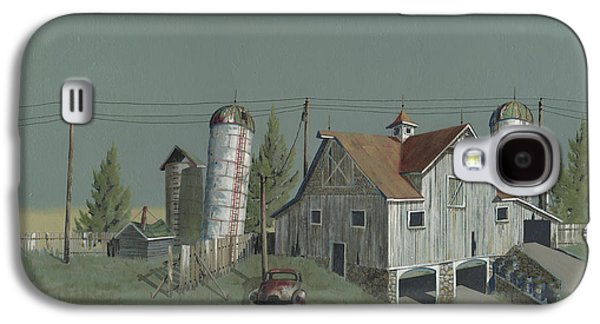 Old Barns Paintings Galaxy S4 Cases - One Mans Castle Galaxy S4 Case by John Wyckoff