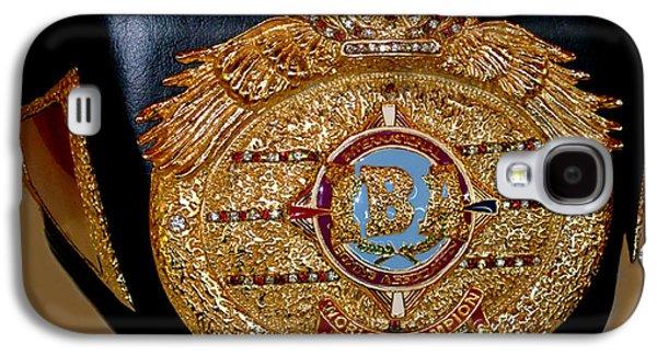 Landmarks Jewelry Galaxy S4 Cases - One of Ana Julatons World Championship Boxing Belts Galaxy S4 Case by Jim Fitzpatrick