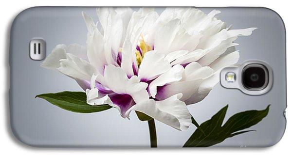 One Peony Flower Galaxy S4 Case by Elena Elisseeva