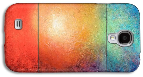Abstract Digital Art Paintings Galaxy S4 Cases - One Verse Galaxy S4 Case by Jaison Cianelli