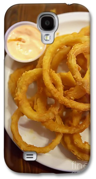 Kitchen Photos Galaxy S4 Cases - Onion Rings Galaxy S4 Case by Kay Pickens