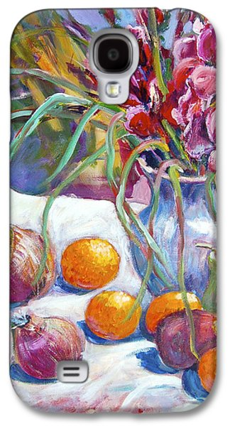 Gladiolas Paintings Galaxy S4 Cases - Onions and Oranges Galaxy S4 Case by Ingrid Dohm