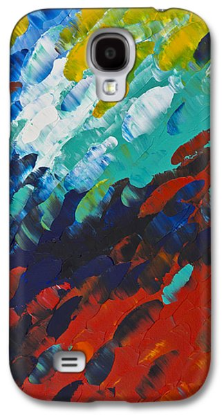 Blue Abstracts Galaxy S4 Cases - Only Till Eternity 1st Panel Galaxy S4 Case by Sharon Cummings