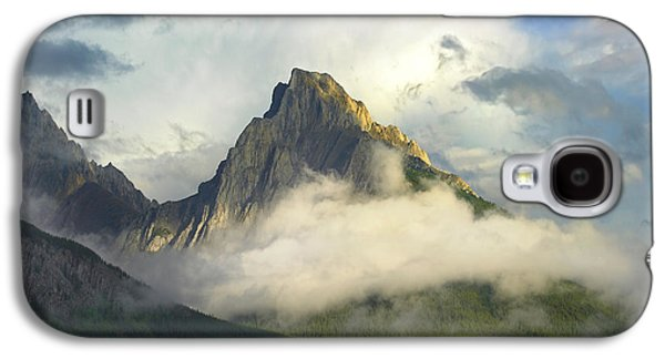 Mountain Photographs Galaxy S4 Cases - Opal Range In Fog Kananaskis Country Galaxy S4 Case by Tim Fitzharris