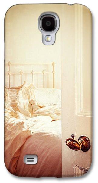 Wooden Door Galaxy S4 Cases - Open Bedroom Door Galaxy S4 Case by Amanda And Christopher Elwell