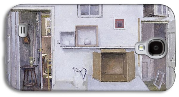 Domestic Galaxy S4 Cases - Open Doors - Framed Objects - Albers, 2004 Oil On Canvas Galaxy S4 Case by Charles E. Hardaker