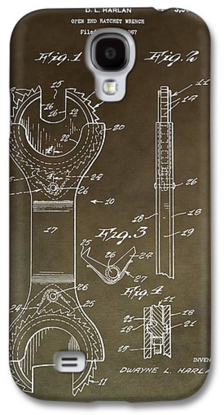 Mechanics Mixed Media Galaxy S4 Cases - Open End Ratchet Wrench Patent Galaxy S4 Case by Dan Sproul