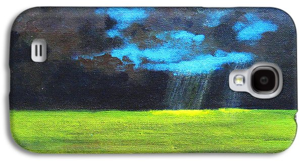 Sun Rays Paintings Galaxy S4 Cases - Open Field III Galaxy S4 Case by Patricia Awapara