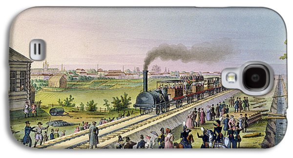 Inauguration Galaxy S4 Cases - Opening Of The First Railway Line From Tsarskoe Selo To Pavlovsk In 1837 Wc On Paper Galaxy S4 Case by Russian School