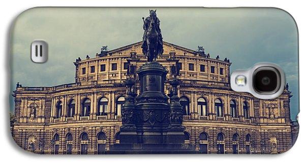 Landmarks Pyrography Galaxy S4 Cases - Opera House in Dresden Galaxy S4 Case by Jelena Jovanovic