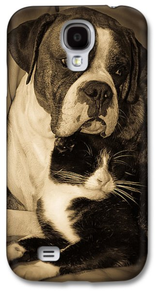 Boxer Galaxy S4 Cases - Opposites Attract Galaxy S4 Case by DigiArt Diaries by Vicky B Fuller