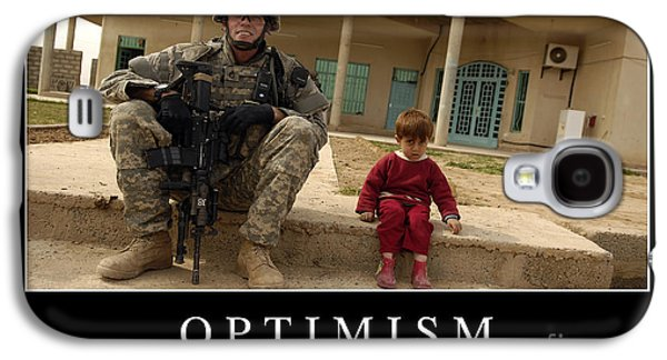 Iraq Posters Galaxy S4 Cases - Optimism Inspirational Quote Galaxy S4 Case by Stocktrek Images