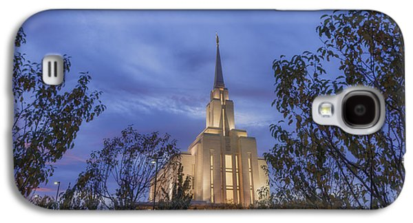 Frame House Galaxy S4 Cases - Oquirrh Mountain Temple II Galaxy S4 Case by Chad Dutson