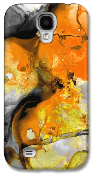 Orange Abstract Art - Light Walk - By Sharon Cummings Galaxy S4 Case by Sharon Cummings