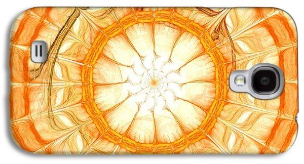 Geometric Galaxy S4 Cases - Orange Galaxy S4 Case by Anastasiya Malakhova