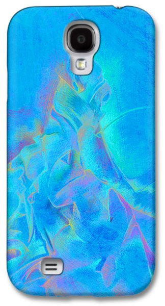 Trippy Drawings Galaxy S4 Cases - Orange and green Galaxy S4 Case by Bodhi