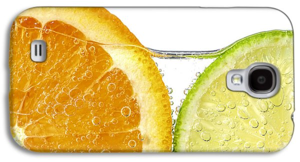 Healthy Galaxy S4 Cases - Orange and lime slices in water Galaxy S4 Case by Elena Elisseeva