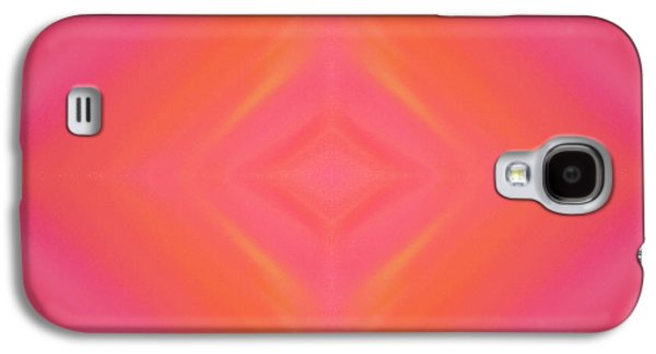 Sorbet Galaxy S4 Cases - Orange And Raspberry Sorbet Abstract 4 Galaxy S4 Case by Andee Design
