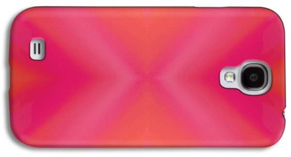 Sorbet Galaxy S4 Cases - Orange And Raspberry Sorbet Abstract 7 Galaxy S4 Case by Andee Design
