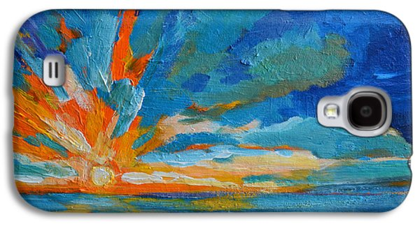 Orange Blue Sunset Landscape Galaxy S4 Case by Patricia Awapara