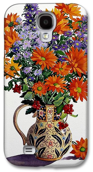 In Bloom Galaxy S4 Cases - Orange Chrysanthemums Galaxy S4 Case by Christopher Ryland