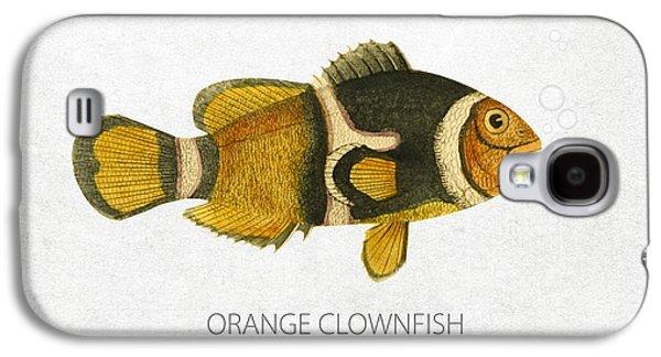 Aquarium Fish Galaxy S4 Cases - Orange Clownfish Galaxy S4 Case by Aged Pixel