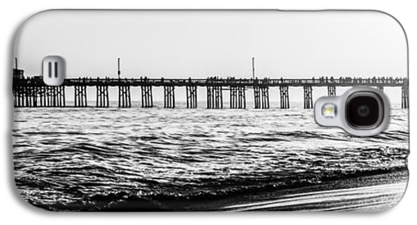 Pacific Ocean Prints Galaxy S4 Cases - Orange County California Pier Panorama Picture Galaxy S4 Case by Paul Velgos
