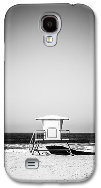 Getaway Galaxy S4 Cases - Orange County Lifeguard Tower Black and White Picture Galaxy S4 Case by Paul Velgos