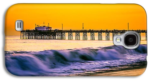 Pacific Ocean Prints Galaxy S4 Cases - Orange County Panoramic Sunset Picture Galaxy S4 Case by Paul Velgos