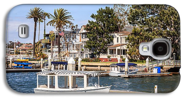 Upscale Galaxy S4 Cases - Orange County Waterfront Homes with Duffy Boats Galaxy S4 Case by Paul Velgos