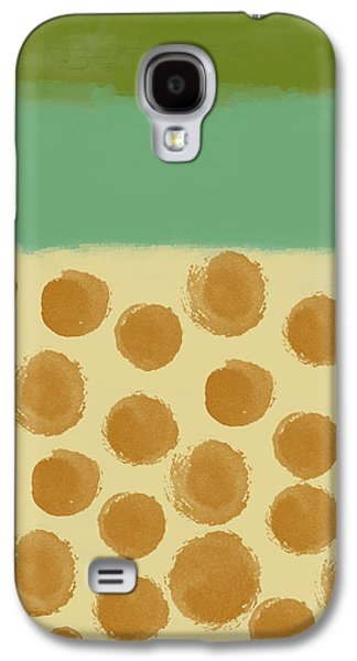 Dots Digital Art Galaxy S4 Cases - Orange dots Galaxy S4 Case by Aged Pixel