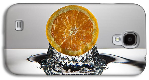 Orange Photographs Galaxy S4 Cases - Orange FreshSplash Galaxy S4 Case by Steve Gadomski