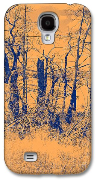 Duo Tone Galaxy S4 Cases - Orange Glow Galaxy S4 Case by Mickey Harkins