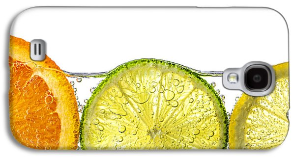 Orange Photographs Galaxy S4 Cases - Orange lemon and lime slices in water Galaxy S4 Case by Elena Elisseeva
